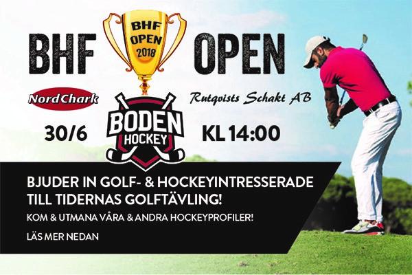 Sänkt pris på deltagande i BHF-open!