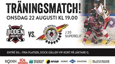 Andra träningsmatchen Boden Hockey vs Luleå J20Elit