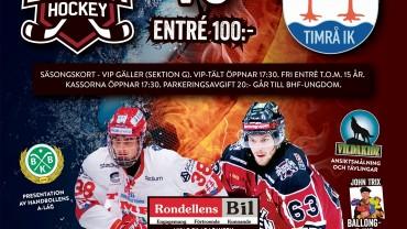 Boden Hockey vs Timrå IK 5/9 kl 19.00
