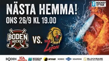Inför matchen: Boden Hockey vs. SK Lejon