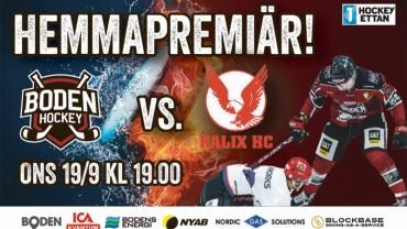 Boden Hockey vs Kalix HC 19/9 kl 19.00