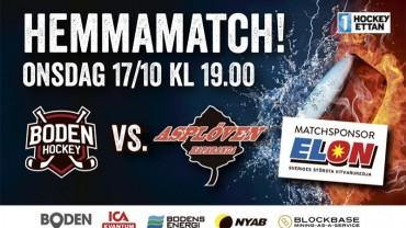 Inför matchen: Boden Hockey vs. Asplöven HC
