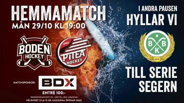 Inför </br>Veckans Match</br> i HockeyEttan: </br> Boden Hockey vs. Piteå HC