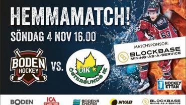 Inför matchen: </br> Boden Hockey vs. Östersunds IK