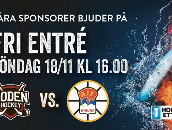 Inför hockeyfesten: </br> Boden Hockey vs. Kiruna AIF