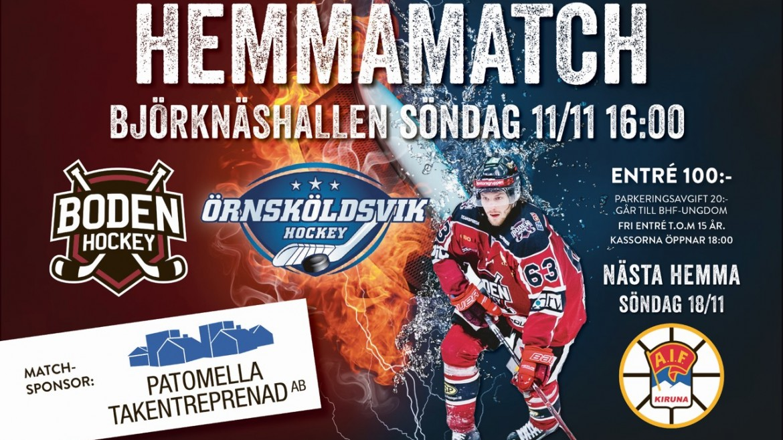 Inför matchen: </br> Boden Hockey vs. Örnsköldsvik HF