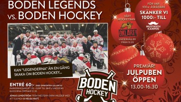 Inför hemvändarmatchen: Boden Legends vs. Boden Hockey