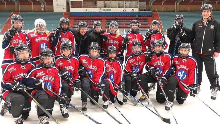 Bodens första tjejlag i hockey
