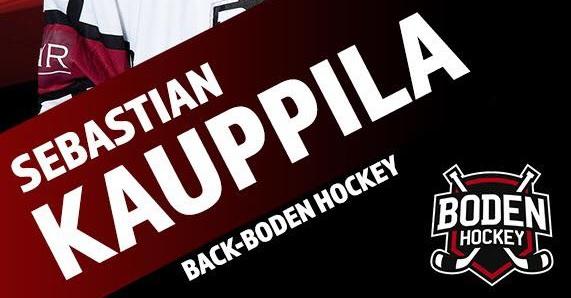 """Sebastian Kauppila: """"mot Allsvenskan med Boden Hockey"""""""