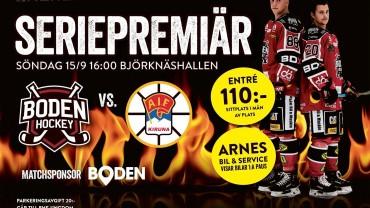 Inför seriepremiären: Boden Hockey vs. Kiruna AIF