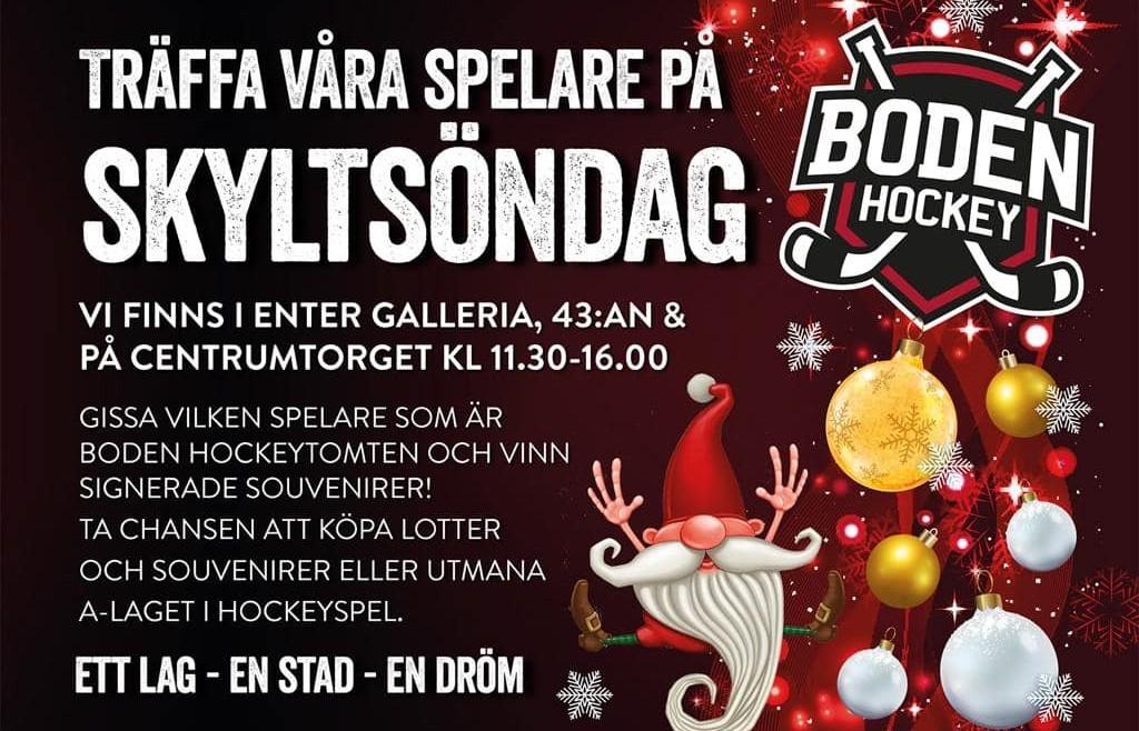 Träffa Boden Hockey-tomten på Skyltsöndagen