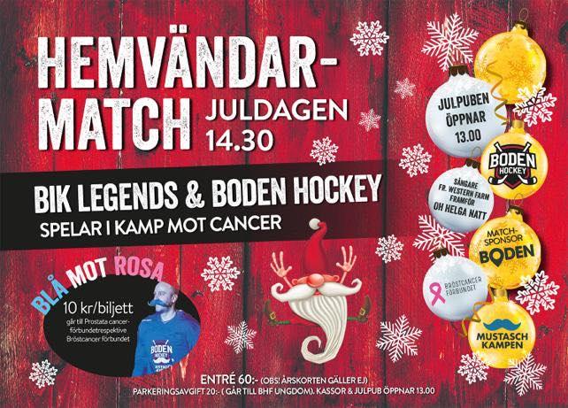 Boden Hockey presenterar förstafemmorna i hemvändarmatchen