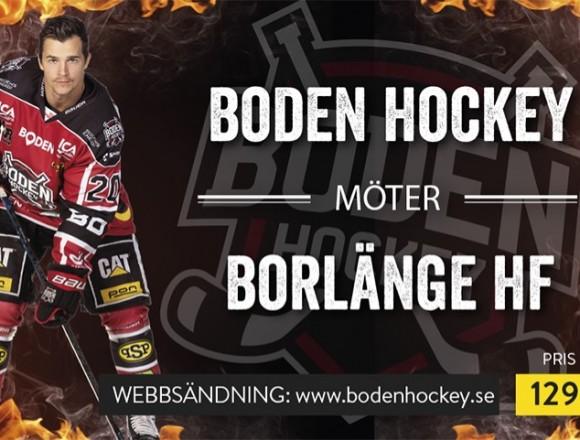 Webbsändning: Boden Hockey vs. Borlänge HF
