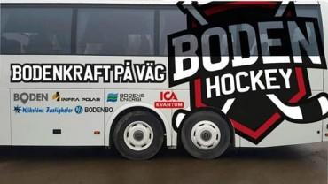 Boden Hockey bjuder supportrarna på bussresa!