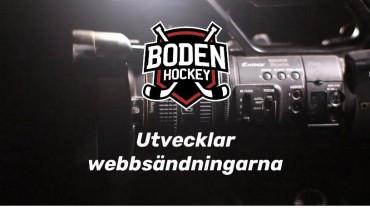 Boden Hockey utvecklar webbsändningarna