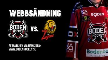 Webbsändning: Boden Hockey vs. SK Lejon