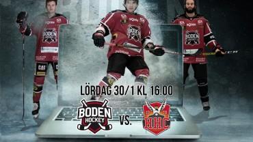 Webbsändning: Boden Hockey vs. Hudiksvalls HC