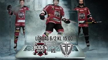 Webbsändning: Boden Hockey vs. Forshaga IF