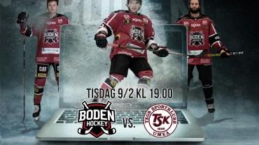 Webbsändning: Boden Hockey vs. Tegs SK