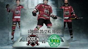 Webbsändning: Boden Hockey vs. Enköpings SK HK