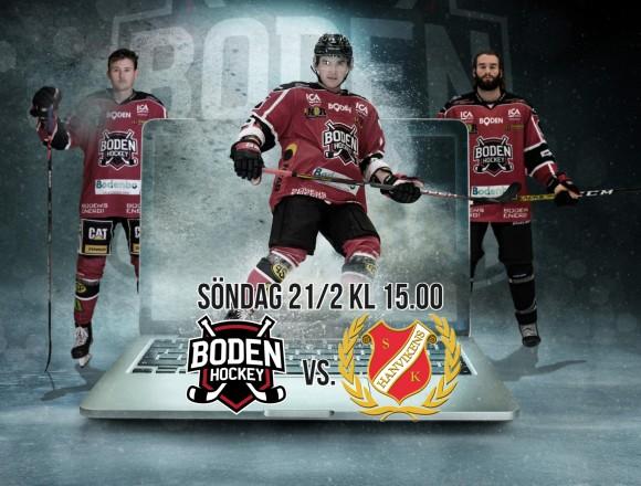 Webbsändning: Boden Hockey vs. Hanvikens SK