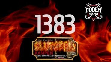 1383 sålda stödbiljetter – fjärde utlottningen!