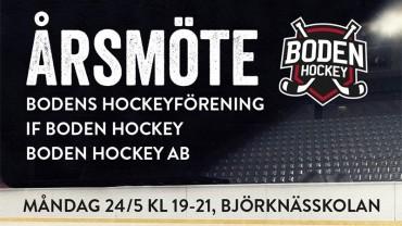 Boden Hockey kallar till årsmöte!